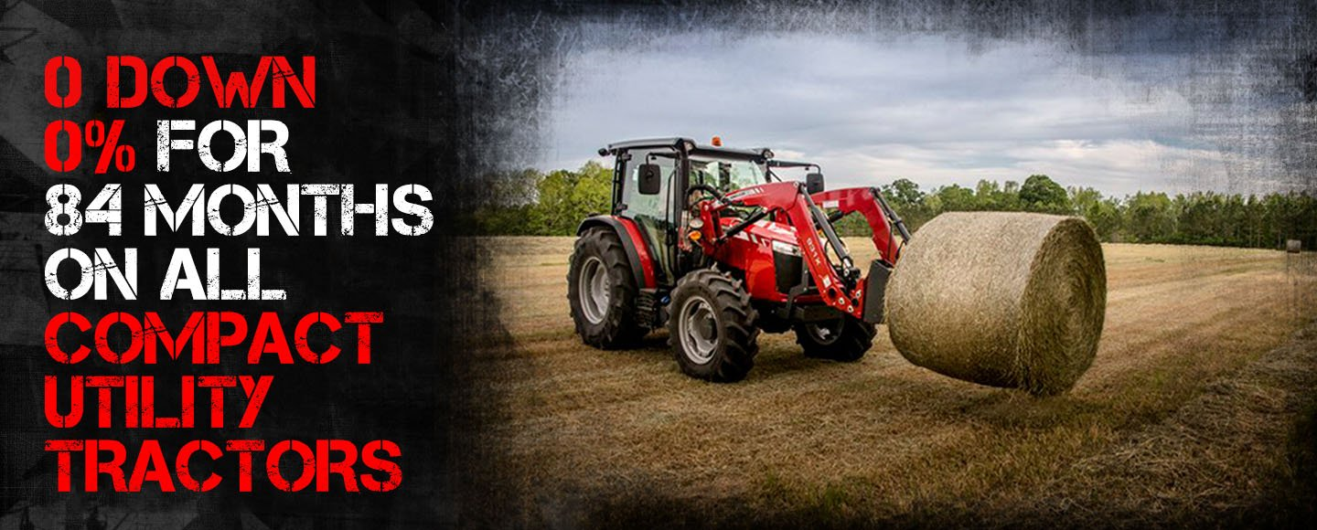 Zero Percent Financing on Massey Tractors